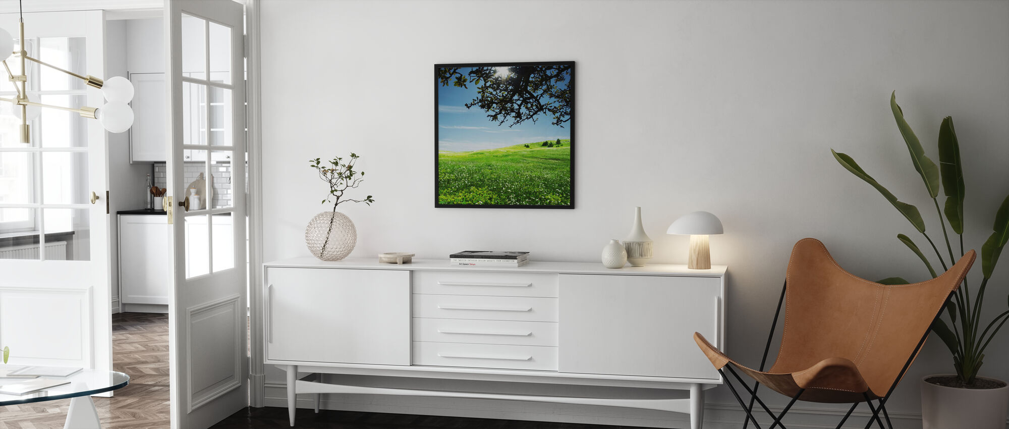 Green Meadow - Framed print - Living Room