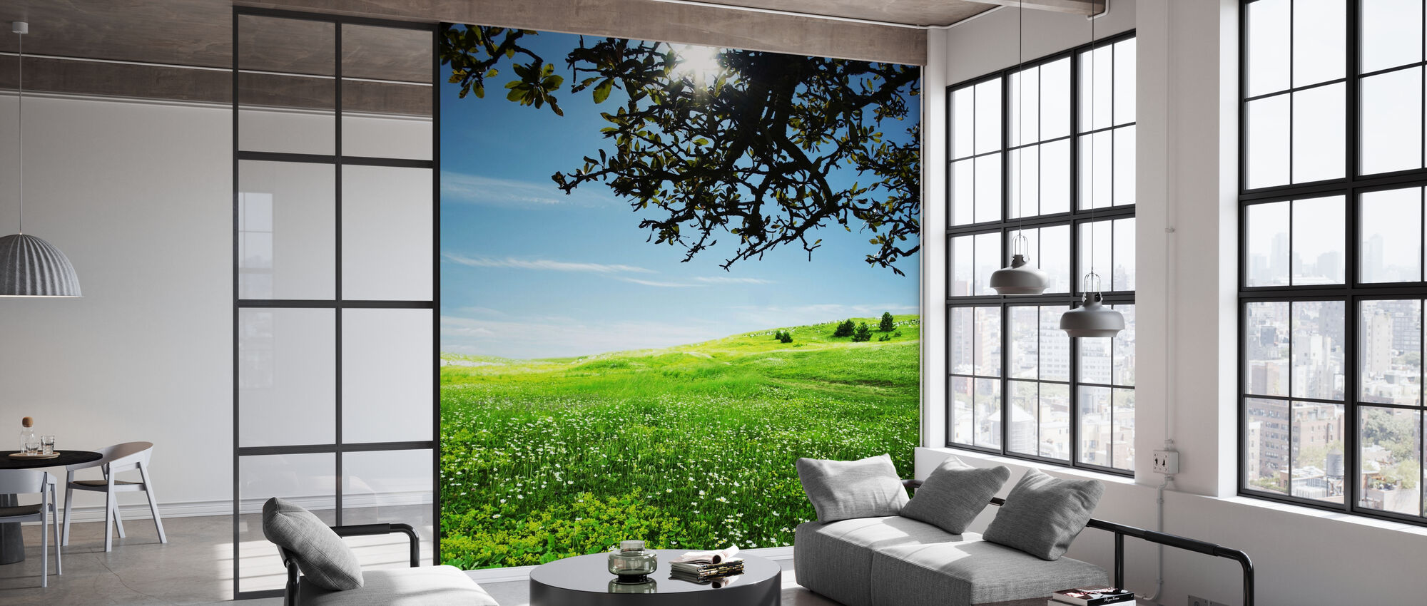 Green Meadow - Wallpaper - Office
