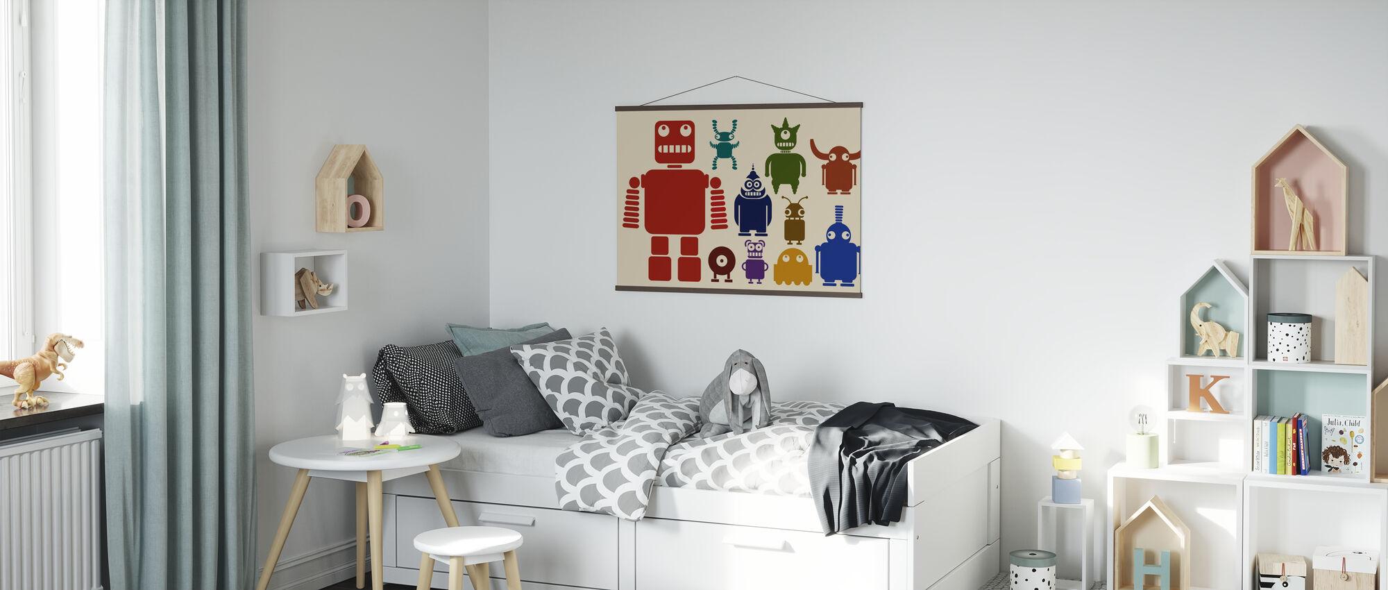 Team von Robotern - Poster - Kinderzimmer