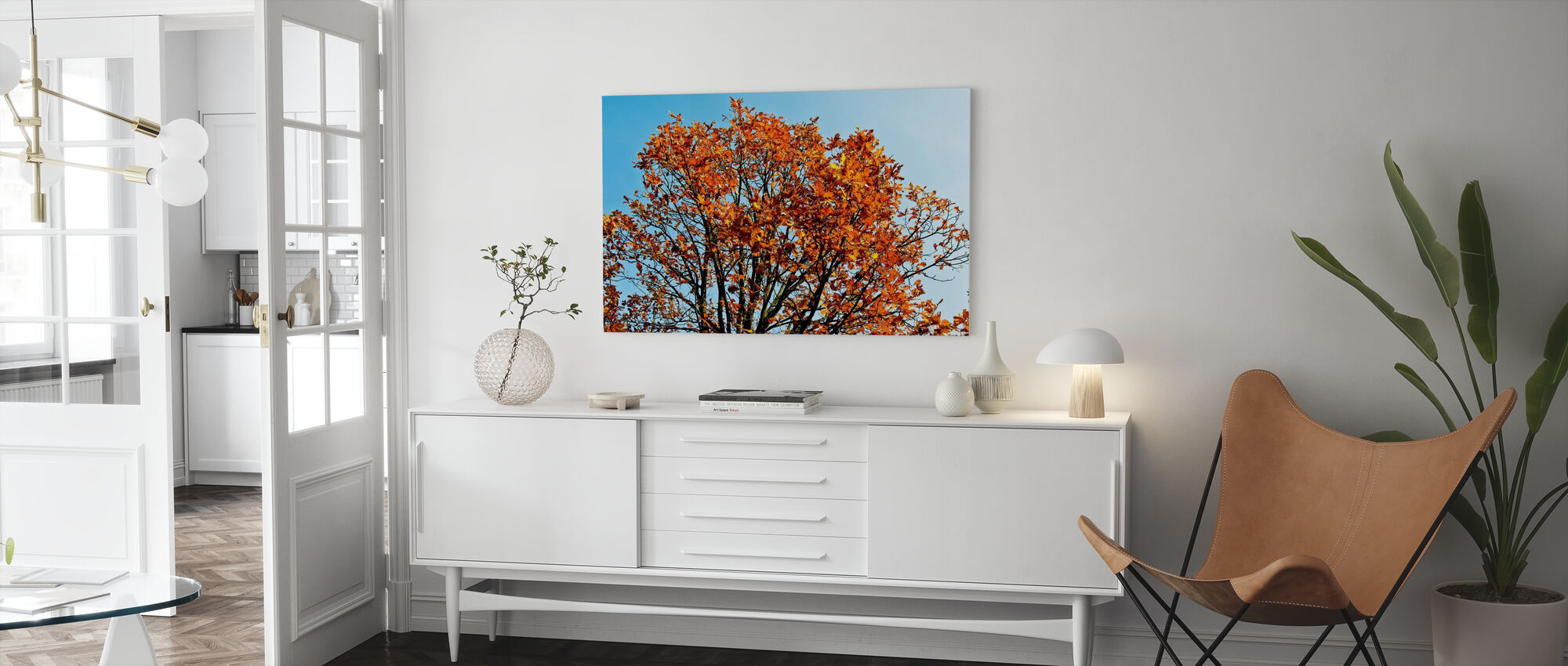 Autumn Tree and Blue Sky - Canvas print - Living Room