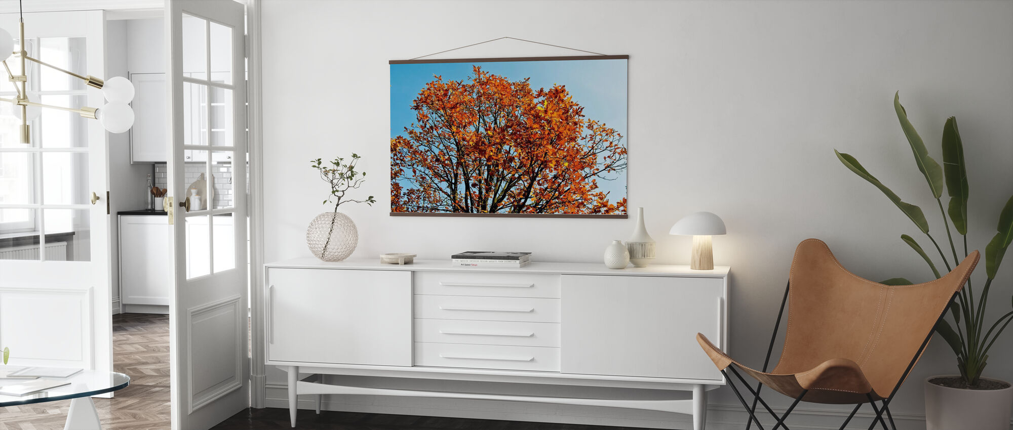 Autumn Tree and Blue Sky - Poster - Living Room