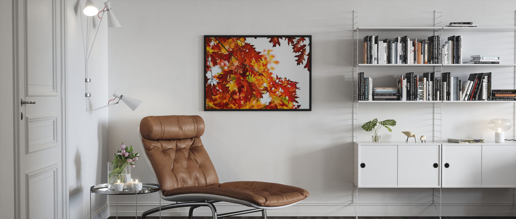 Red and Yellow Leaves - Framed print - Living Room