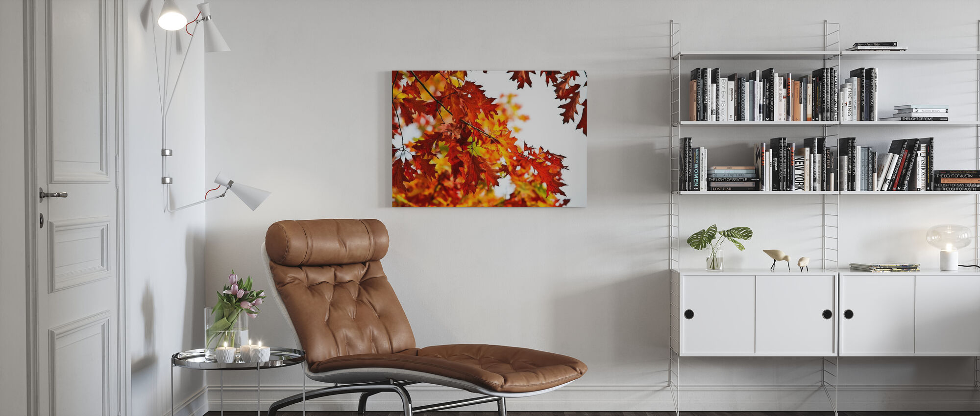 Red and Yellow Leaves - Canvas print - Living Room