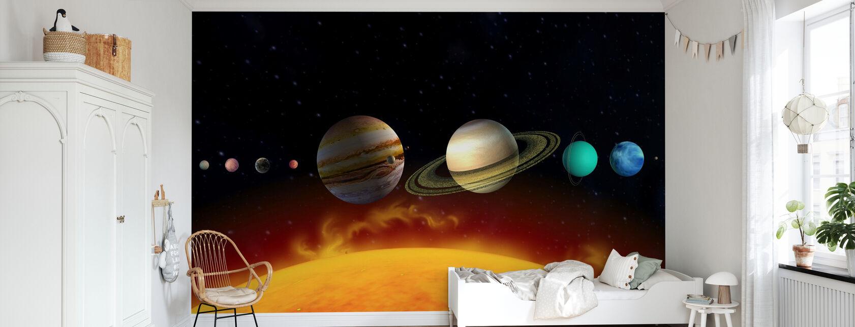 Soleil et Planètes - Papier peint - Chambre des enfants
