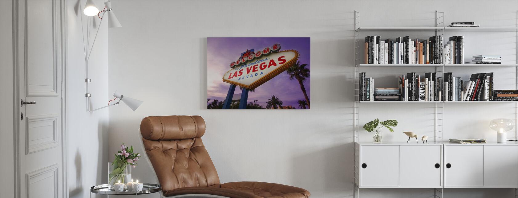 Enseigne Las Vegas - Impression sur toile - Salle à manger