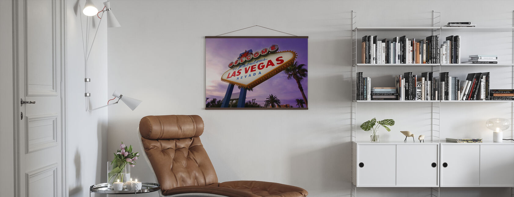Las Vegas Sign - Poster - Woonkamer