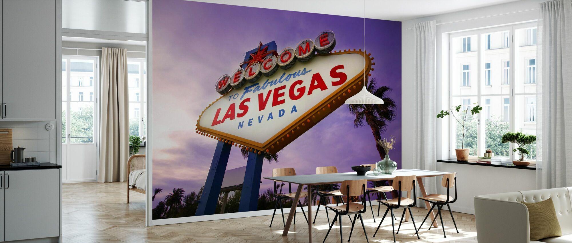 Las Vegas Sign - Behang - Keuken