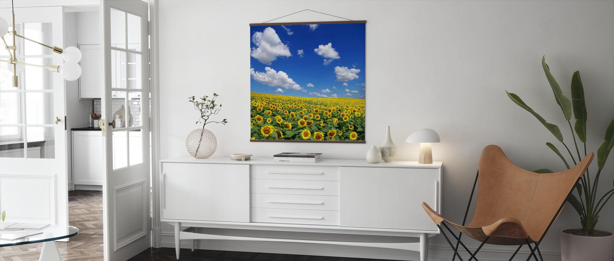 Sonnenblumenfeld - Poster - Wohnzimmer