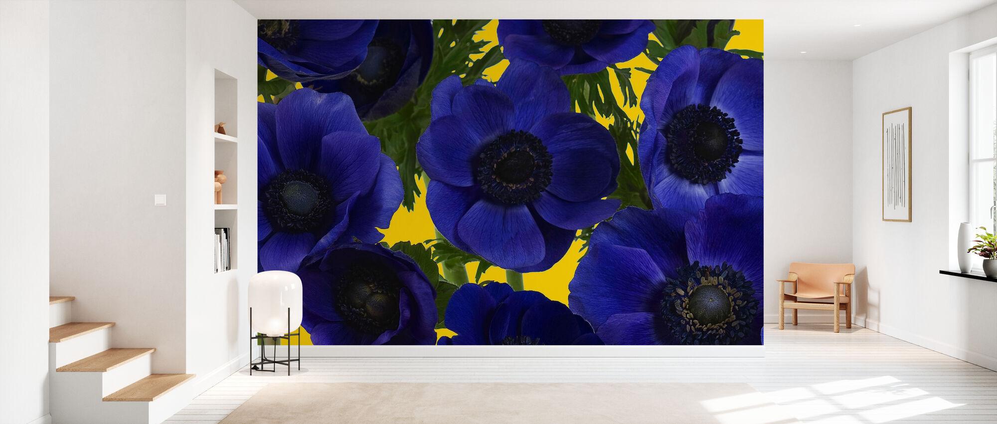Panoramic Flowers - Yellow - Wallpaper - Hallway