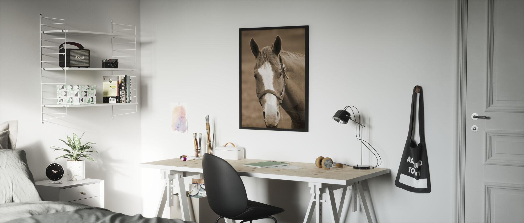 Cheval Doux - Affiche - Chambre des enfants