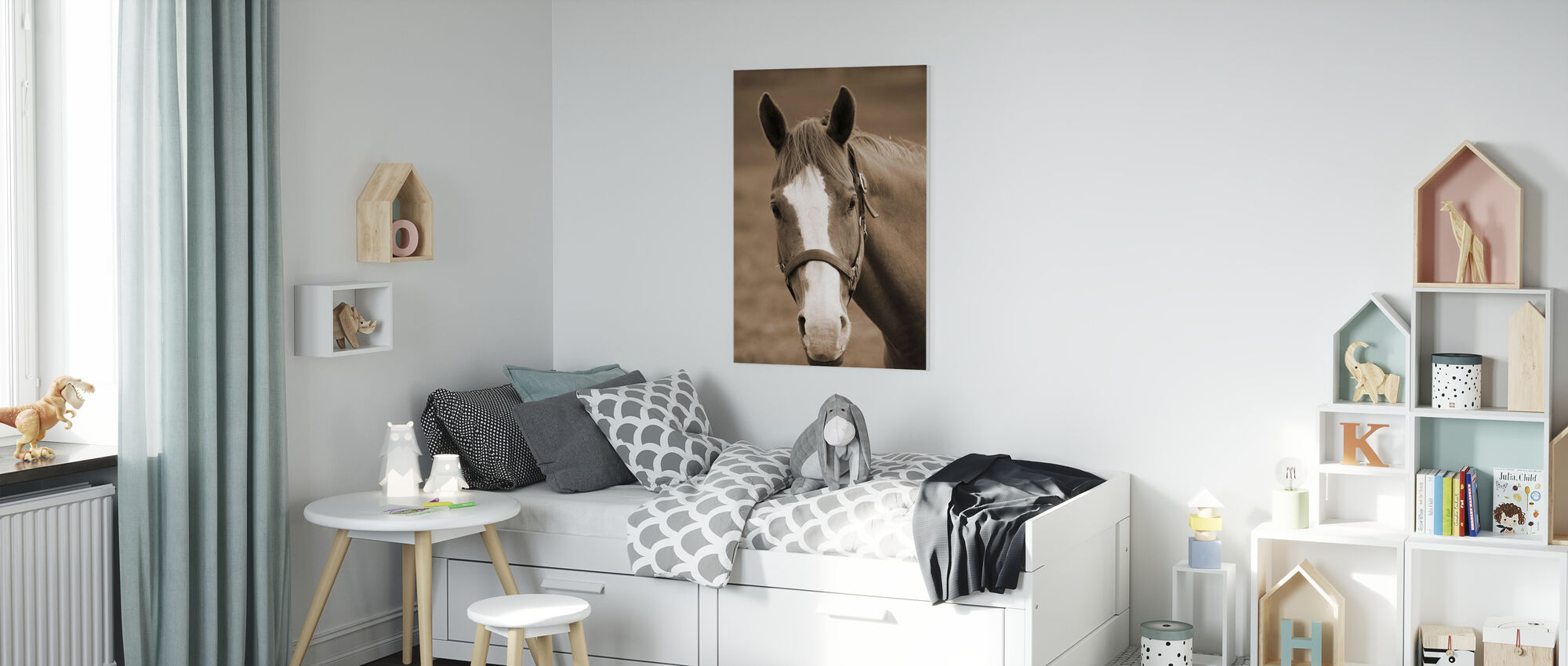 Søt Hest - Lerretsbilde - Barnerom