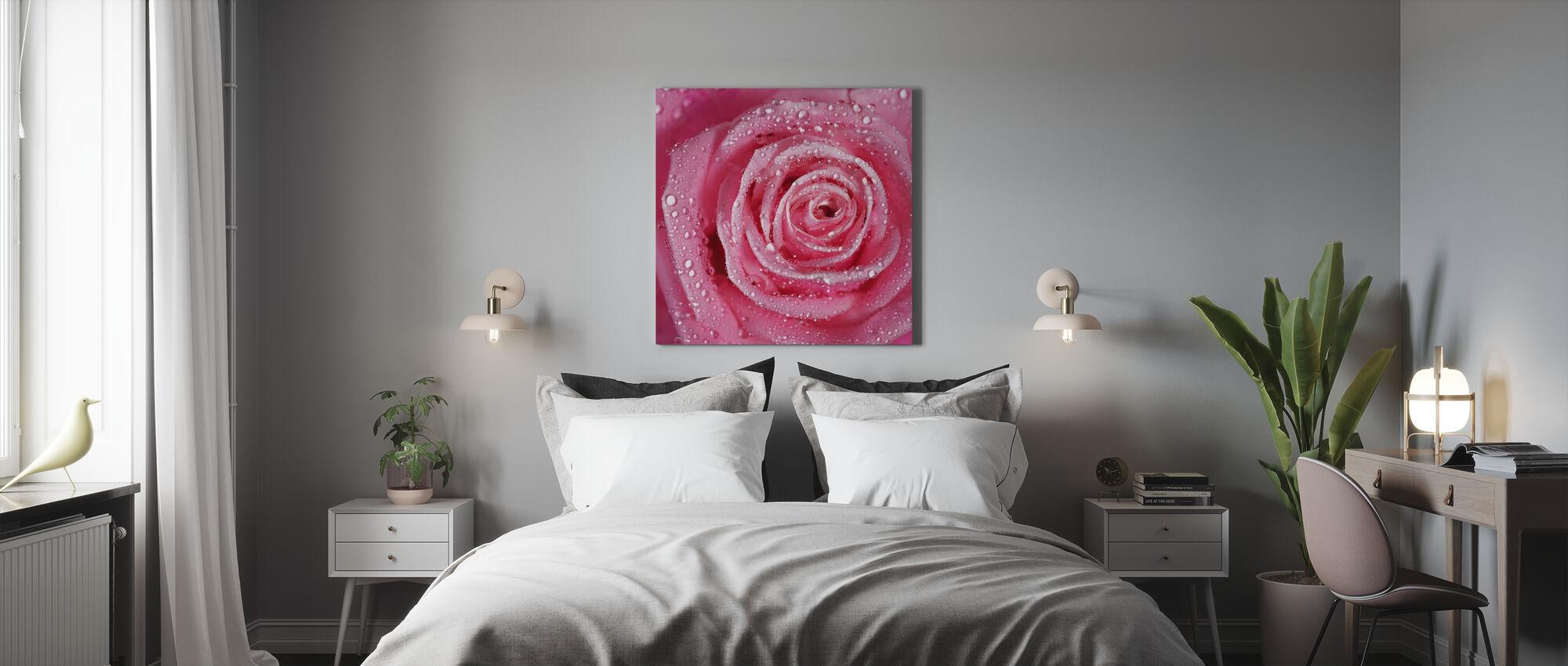 Rose Rose - Impression sur toile - Chambre