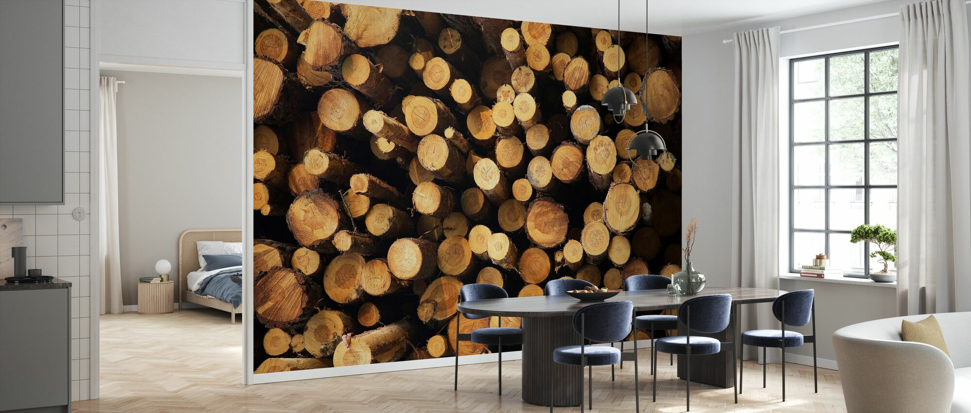 Logs - Wallpaper - Kitchen