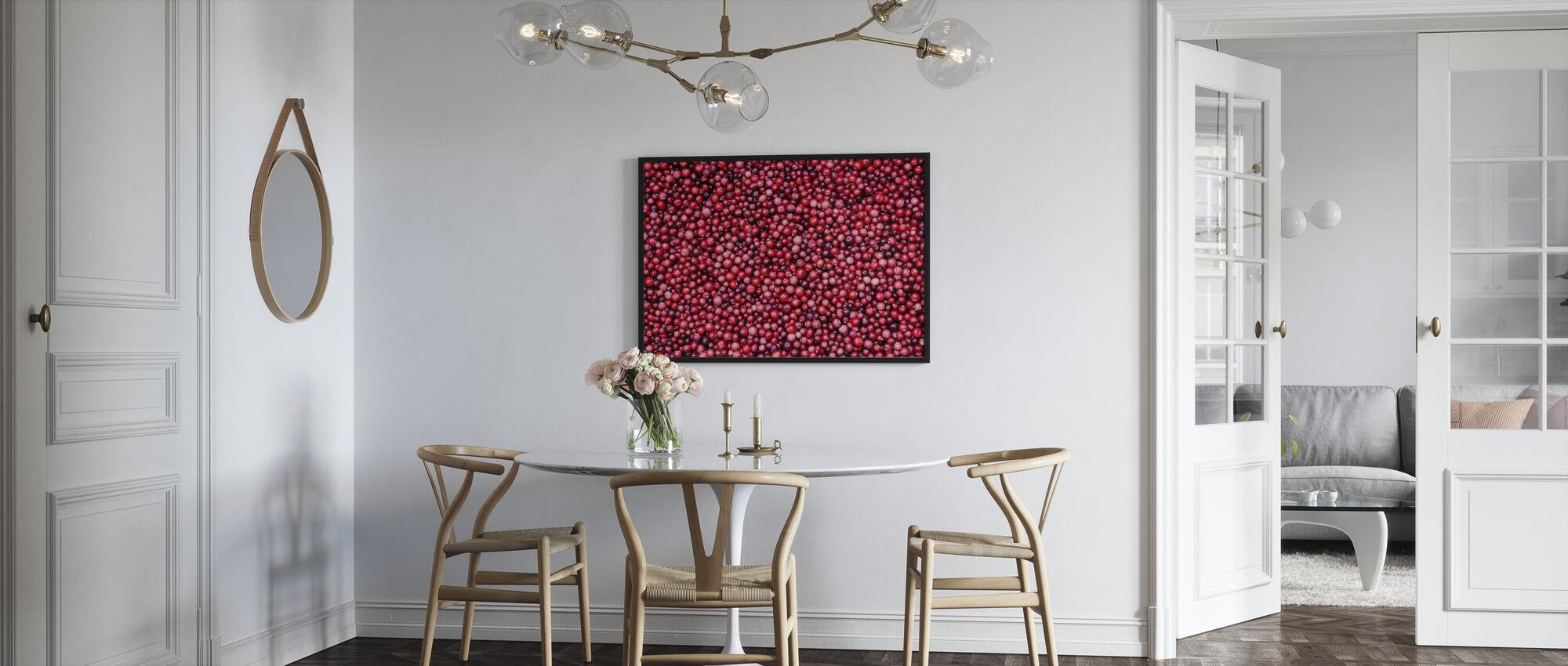 Lingonberries - Framed print - Kitchen