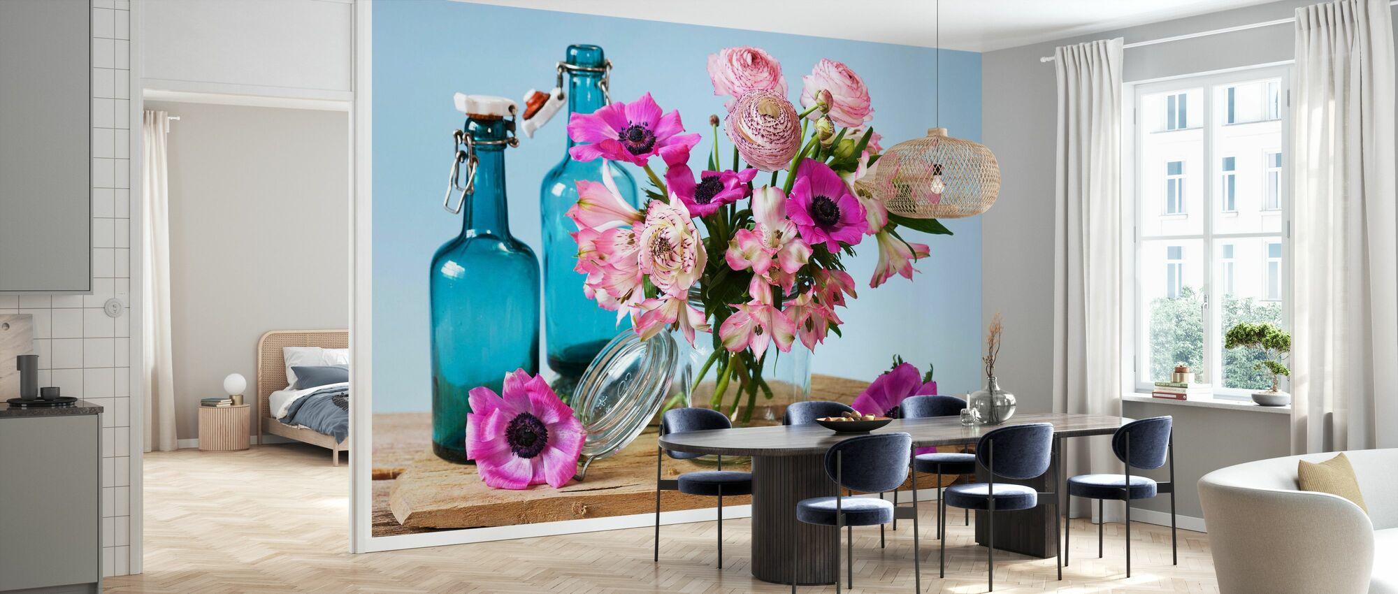 Pastel Flowers - Wallpaper - Kitchen
