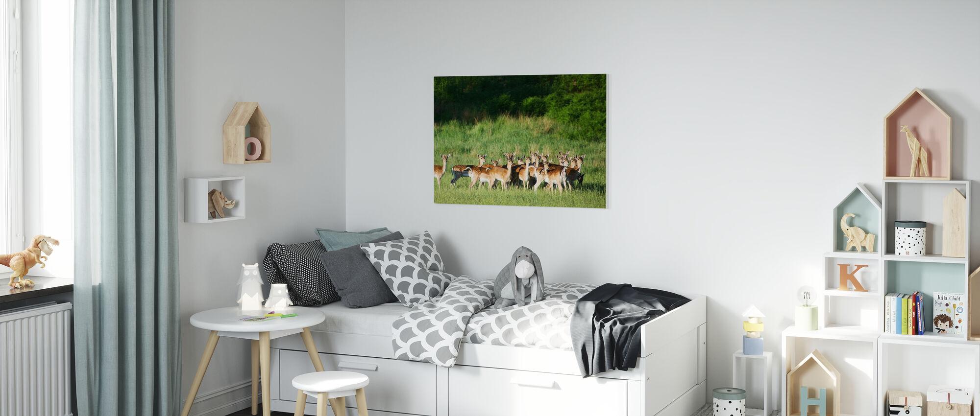 Fallow Deers - Canvas print - Kids Room