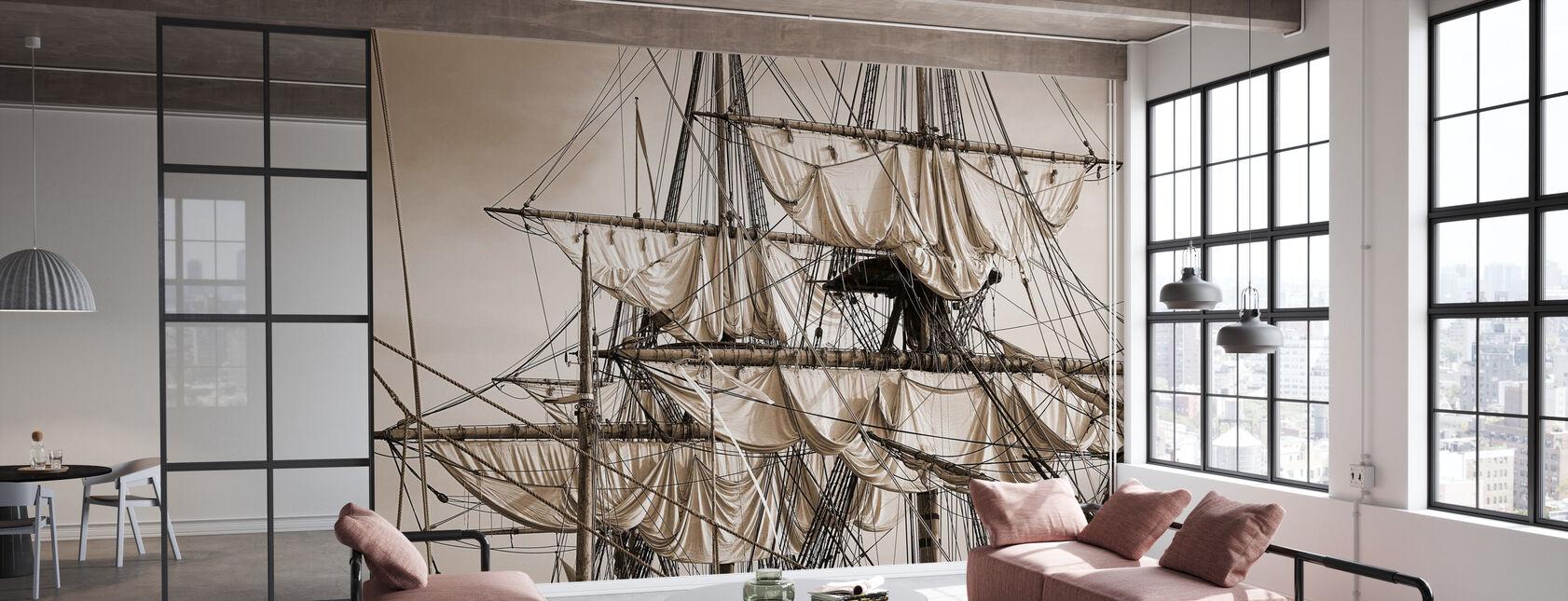 Sailing Ship - Sepia - Wallpaper - Office
