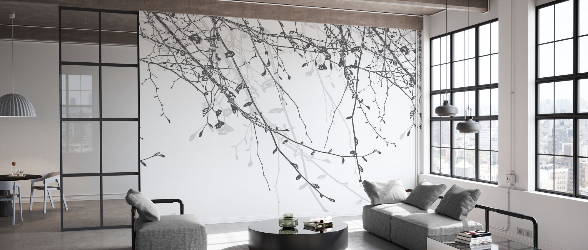 Spring Beech Silver - Wallpaper - Office