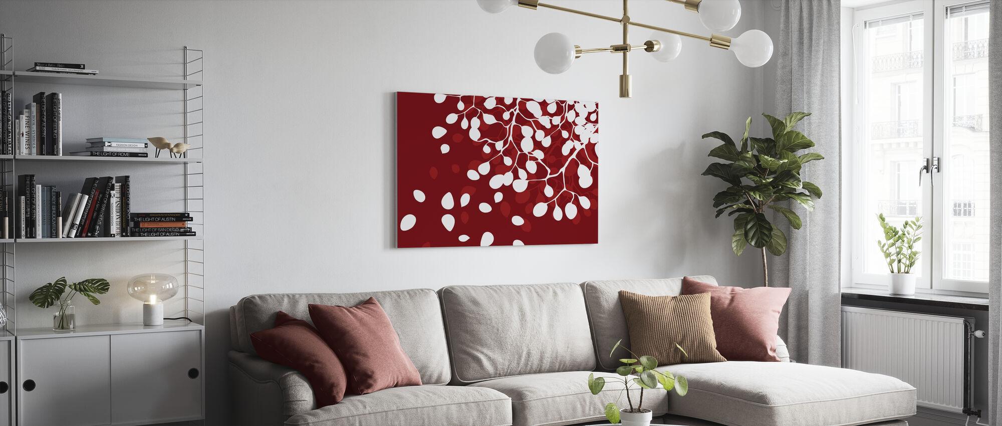 Birch - Holiday Red - Lienzo - Salón