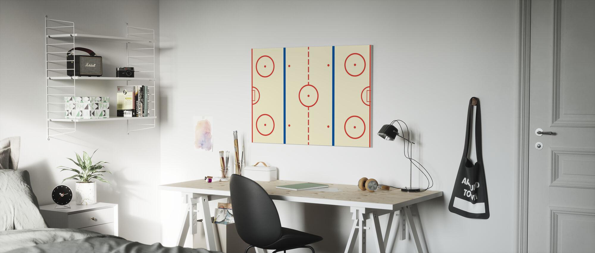 Ice Hockey Rink - Canvas print - Kids Room