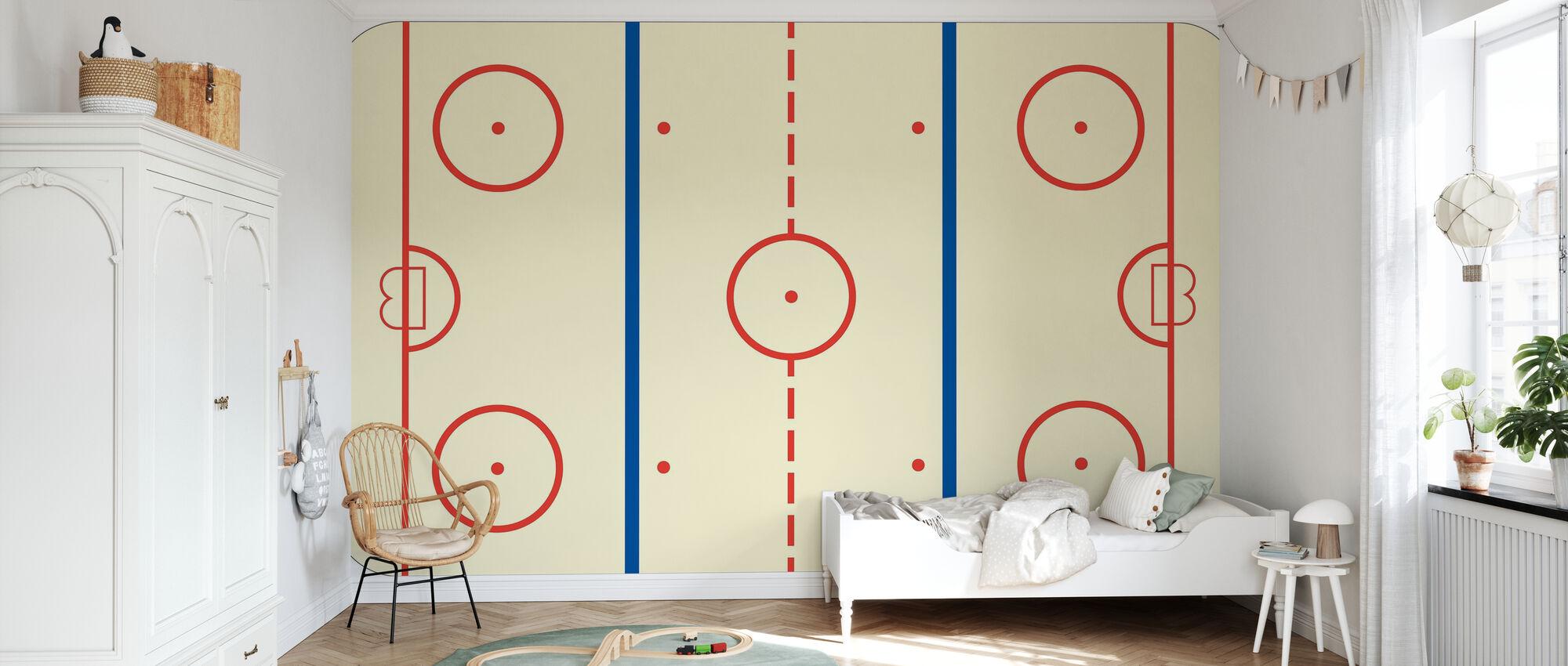 Ice Hockey Rink - Wallpaper - Kids Room
