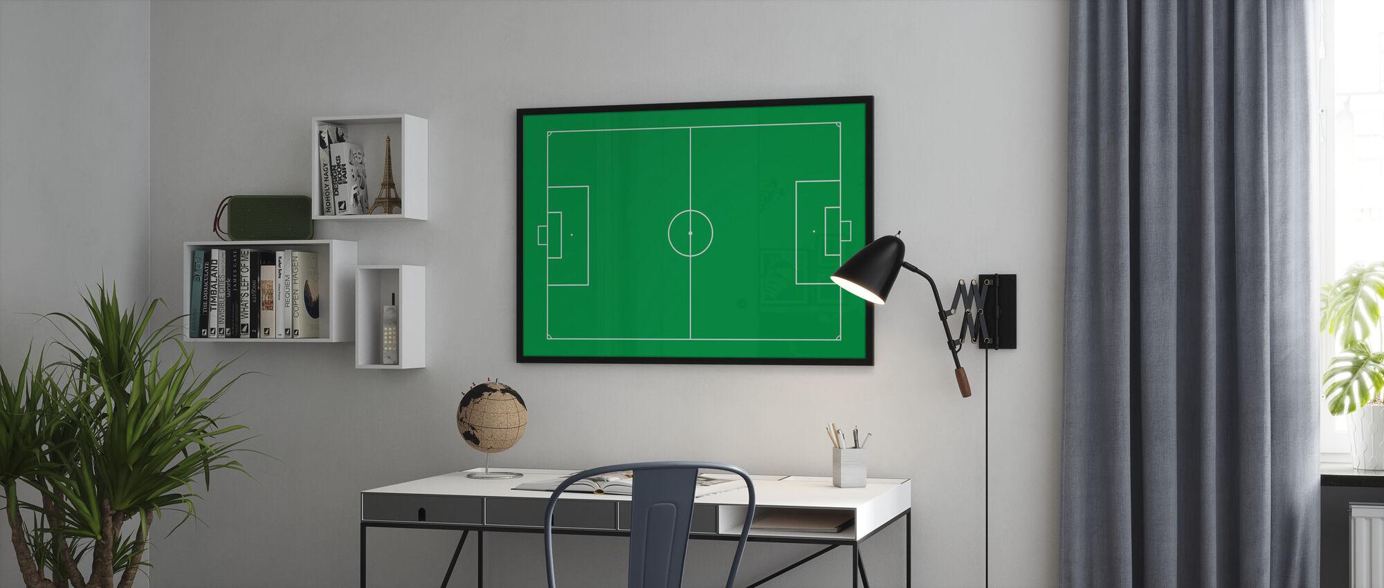 Soccer Field - Framed print - Office