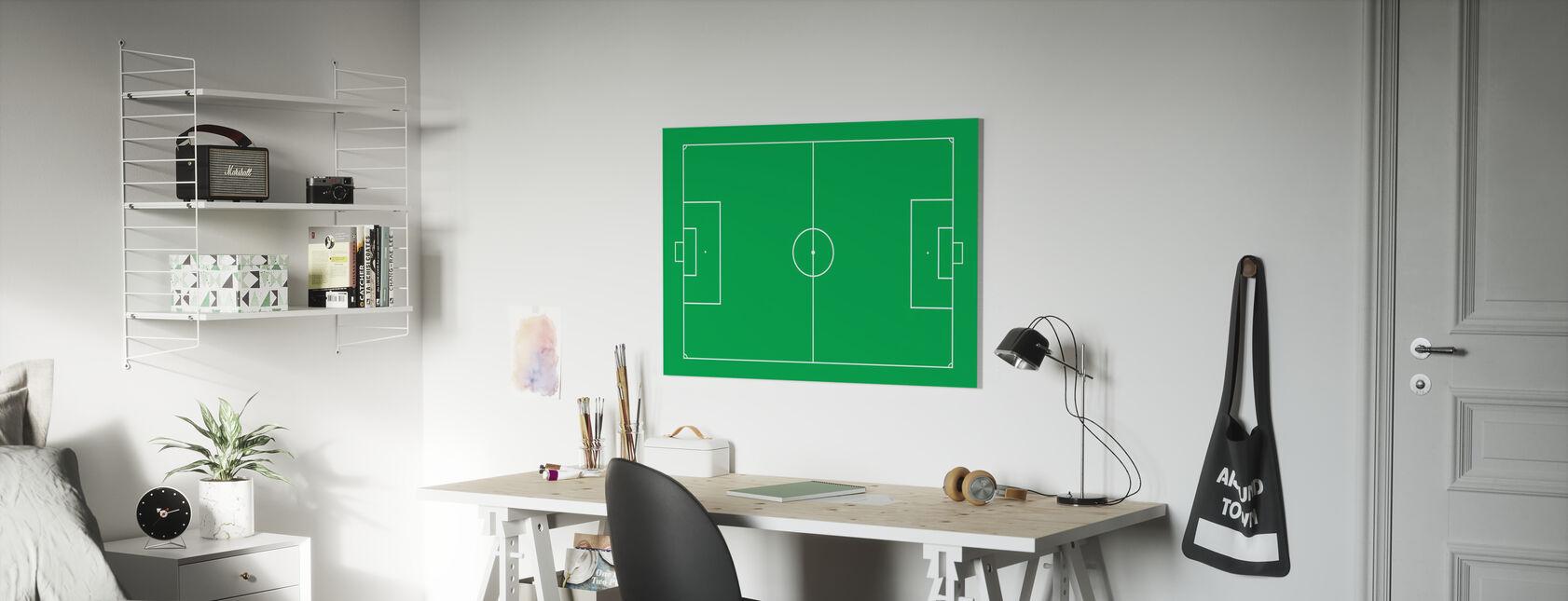 Terrain de football - Impression sur toile - Chambre des enfants