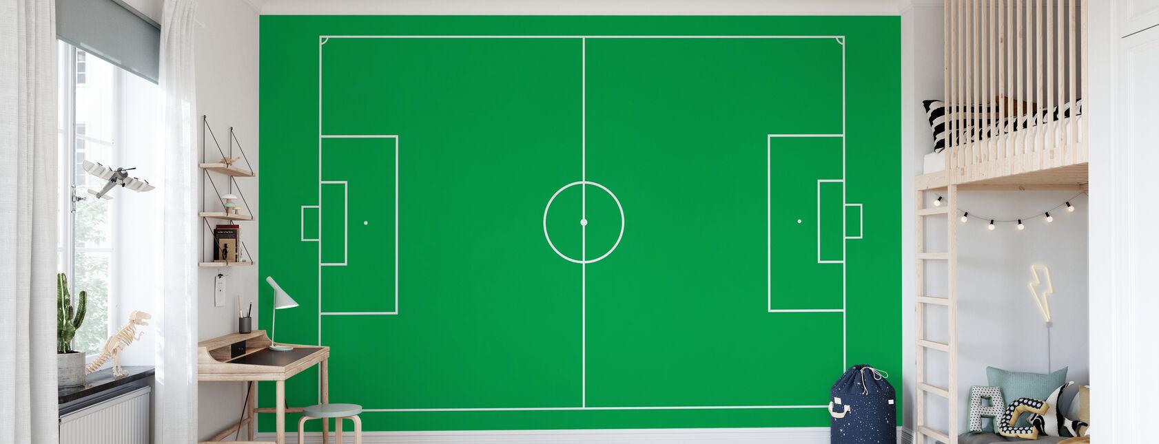 Soccer Field - Wallpaper - Kids Room