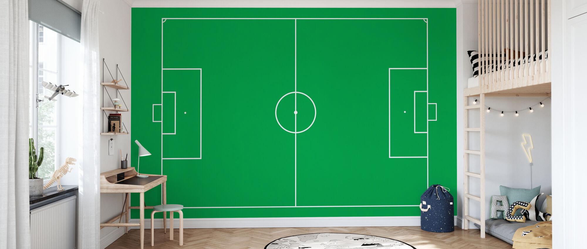 Voetbalveld - Behang - Kinderkamer