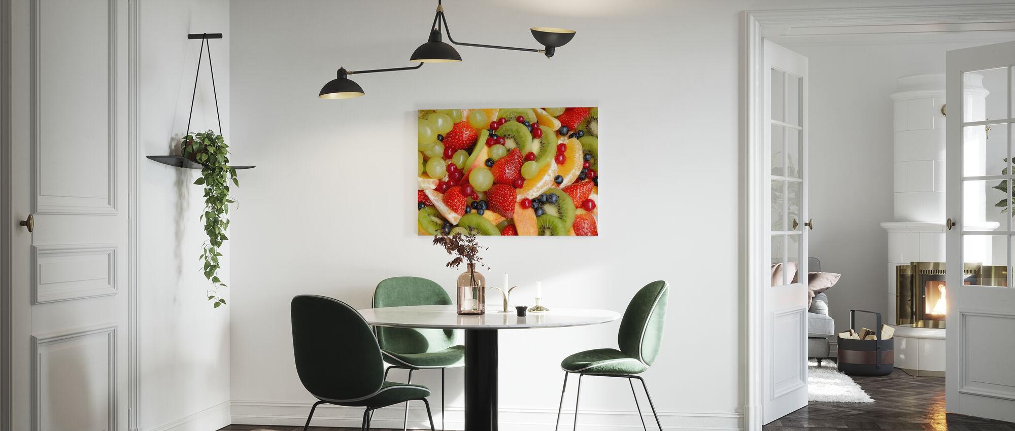Frisk frugt - Billede på lærred - Køkken