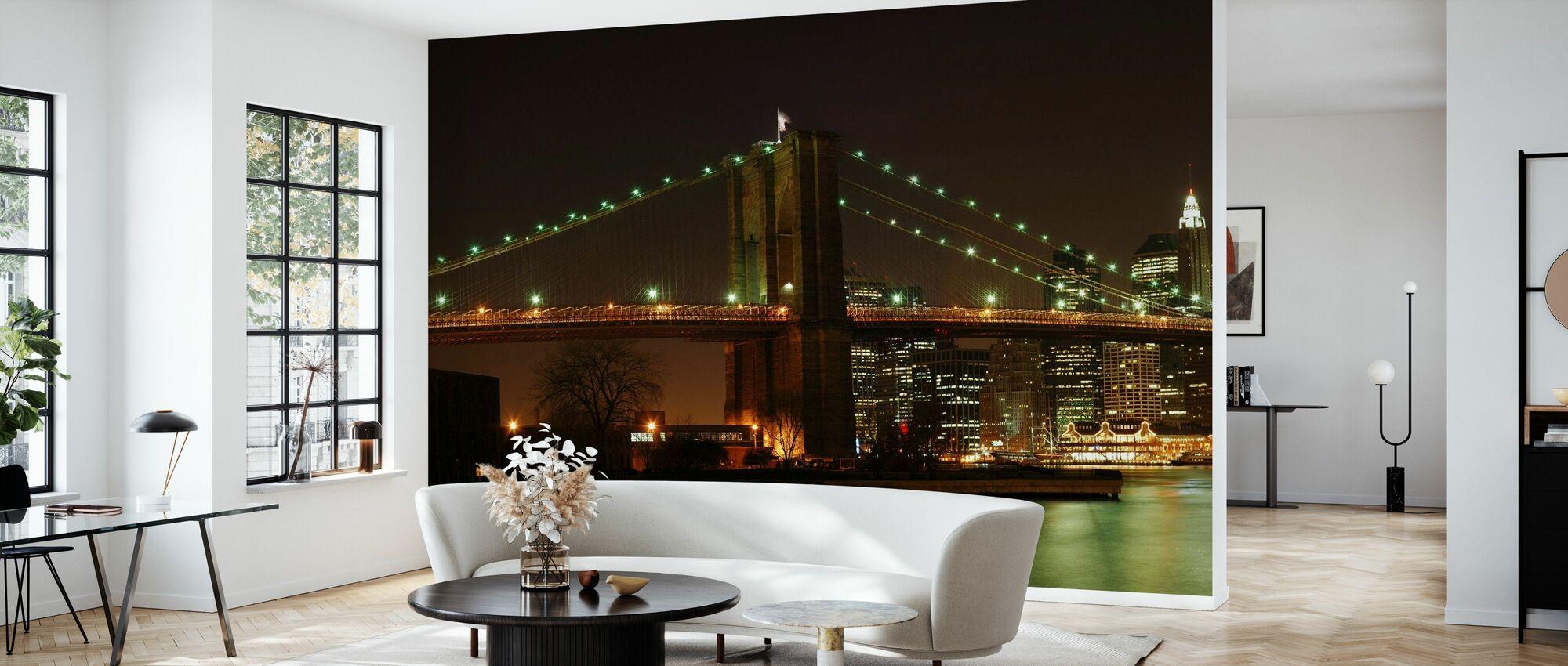 Brooklyn Bridge Full utsikt - Tapet - Vardagsrum