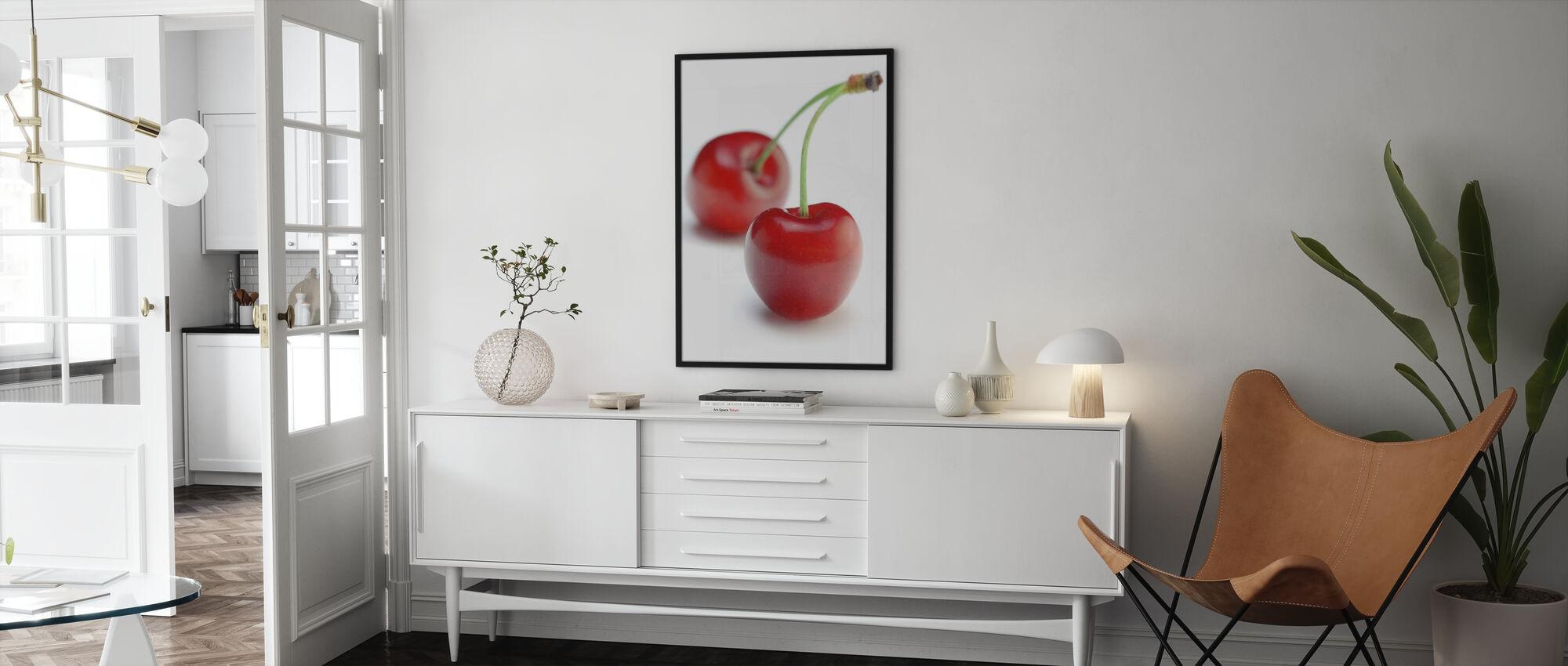 Two Cherries - Framed print - Living Room