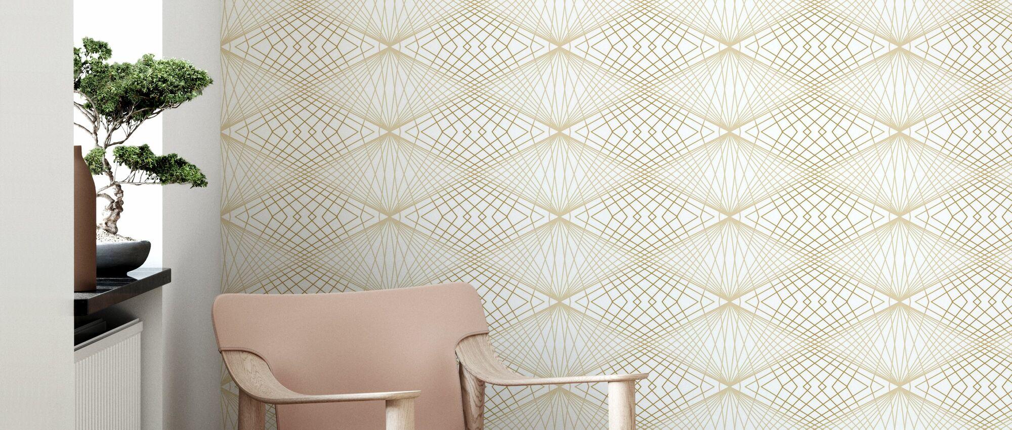 Strings - Sand - Wallpaper - Living Room
