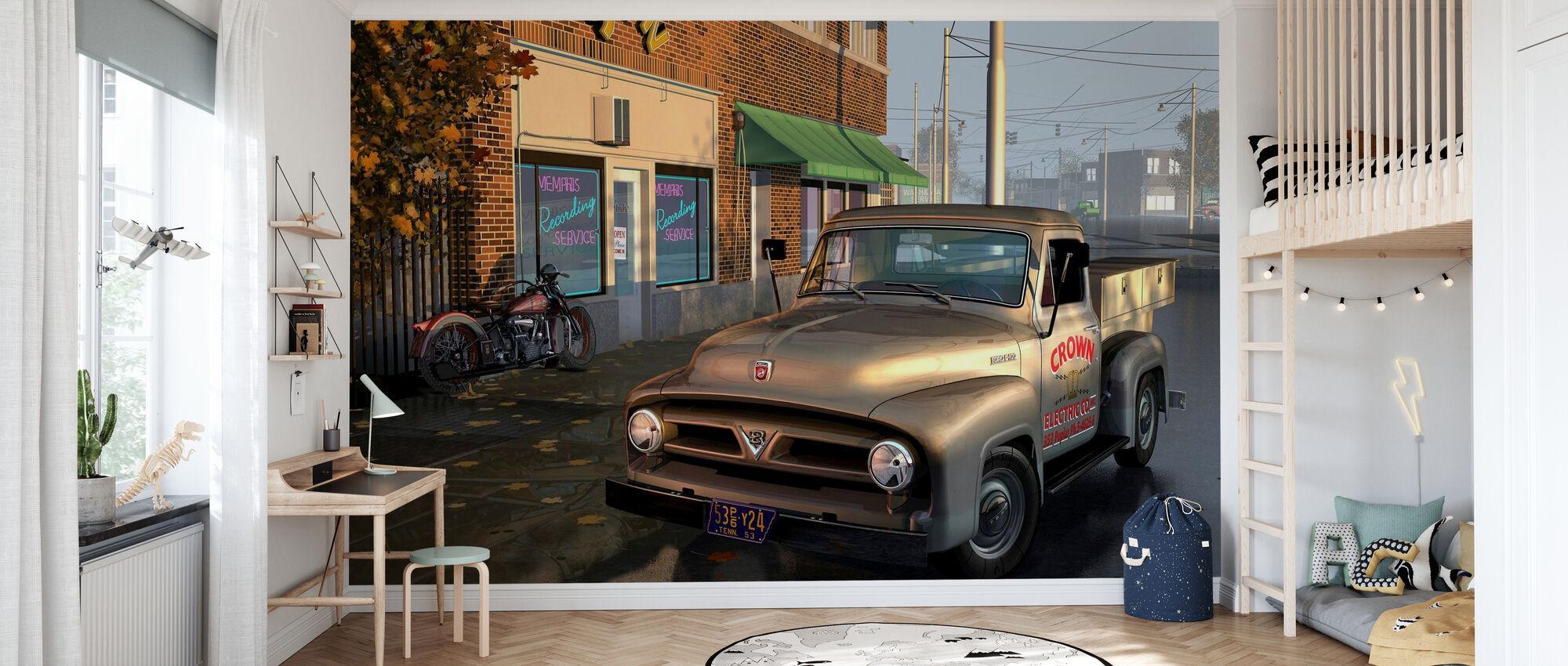 Truck - Wallpaper - Kids Room