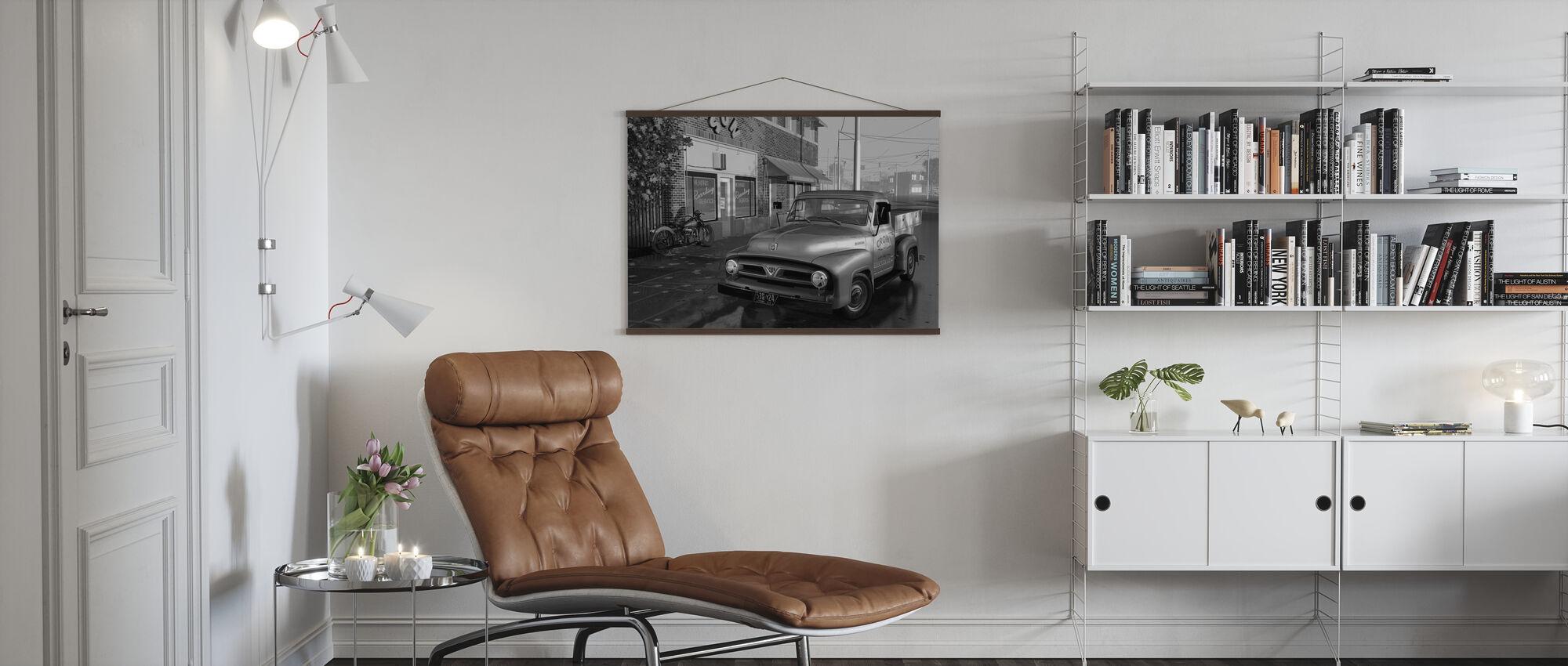 Truck BW - Poster - Living Room
