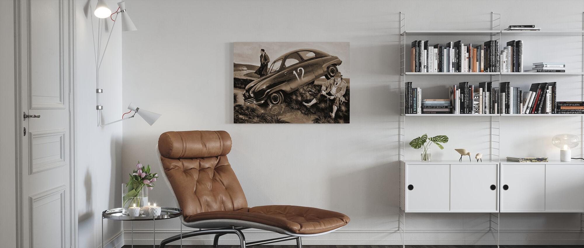 Carlsson Car Sepia - Billede på lærred - Stue