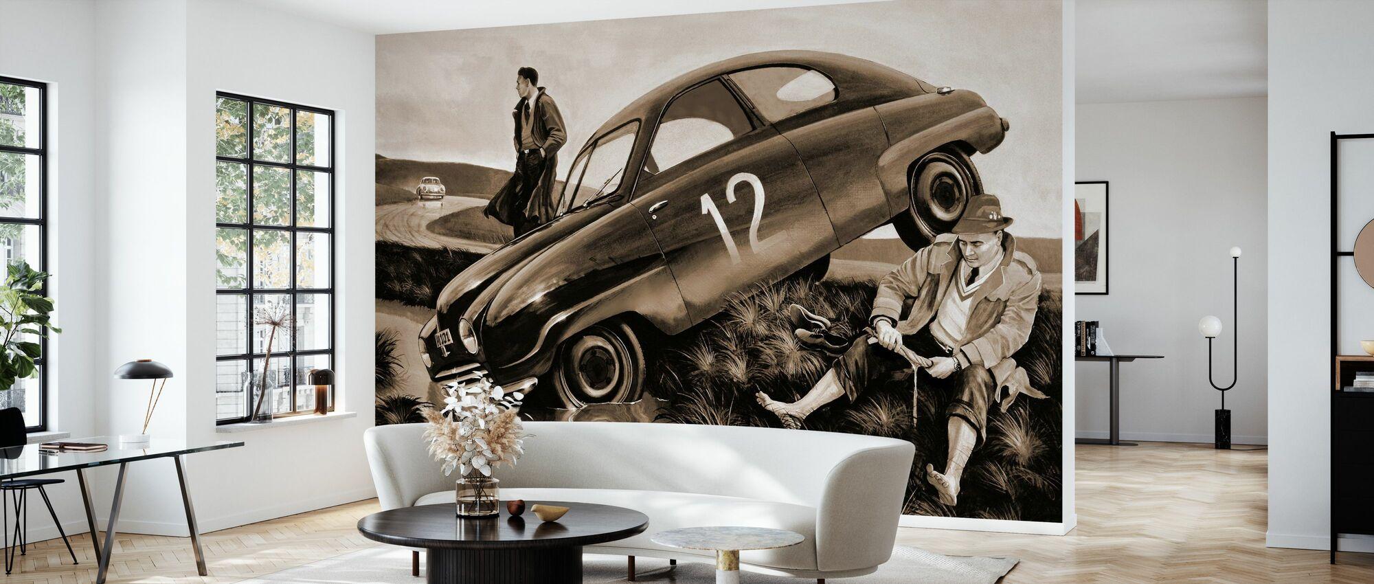 Carlsson Car Sepia - Wallpaper - Living Room