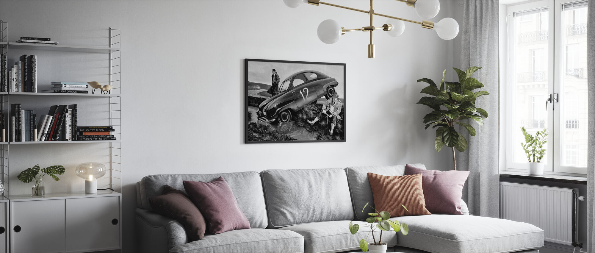 Carlsson Car BW - Poster - Living Room