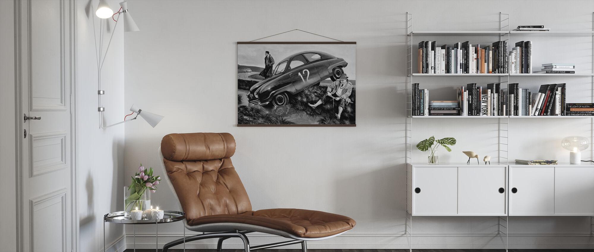 Carlsson Car BW - Poster - Living Room