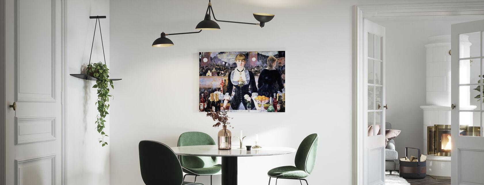 Bar at Folies-Bergere, Edouard Manet - Canvas print - Kitchen