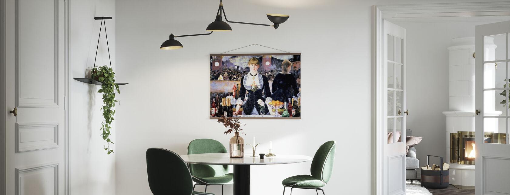 Bar at Folies-Bergere, Edouard Manet - Poster - Kitchen