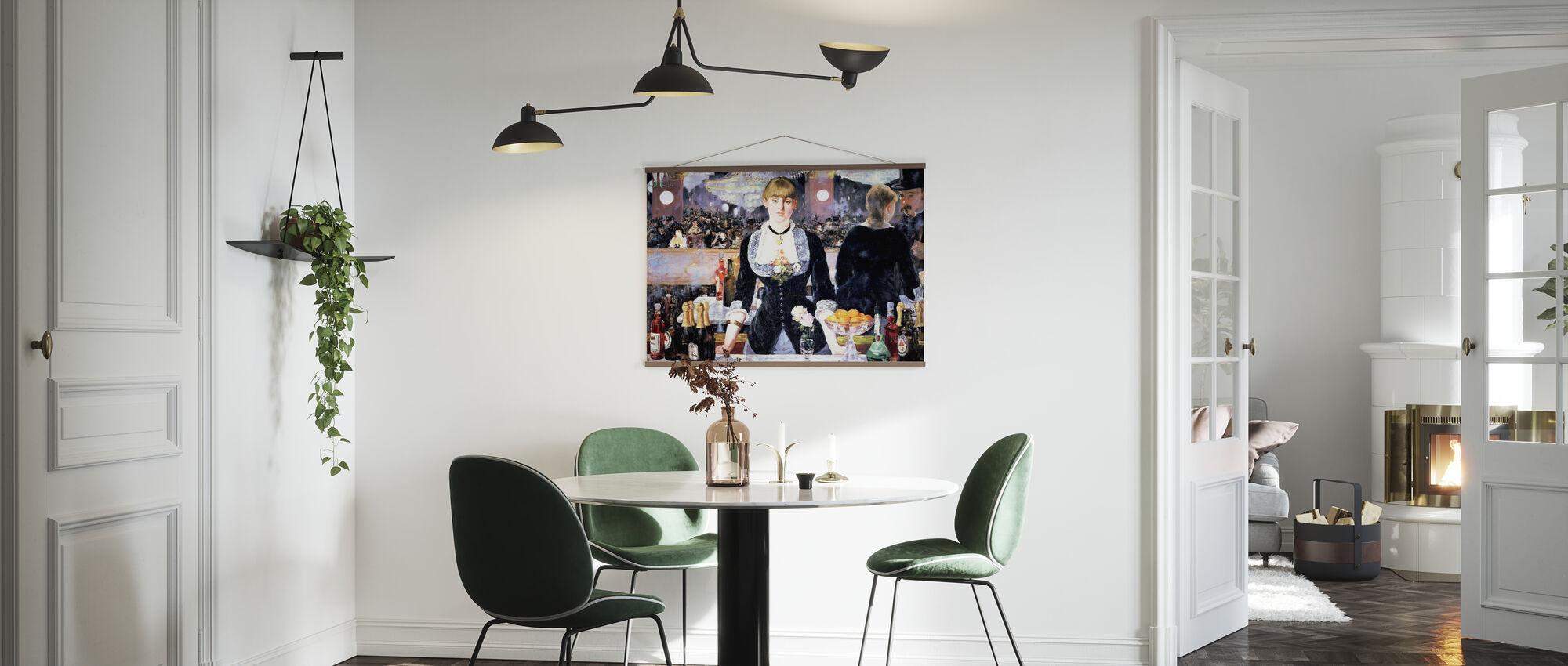 Bar en Folies-Bergere, Edouard Manet - Póster - Cocina