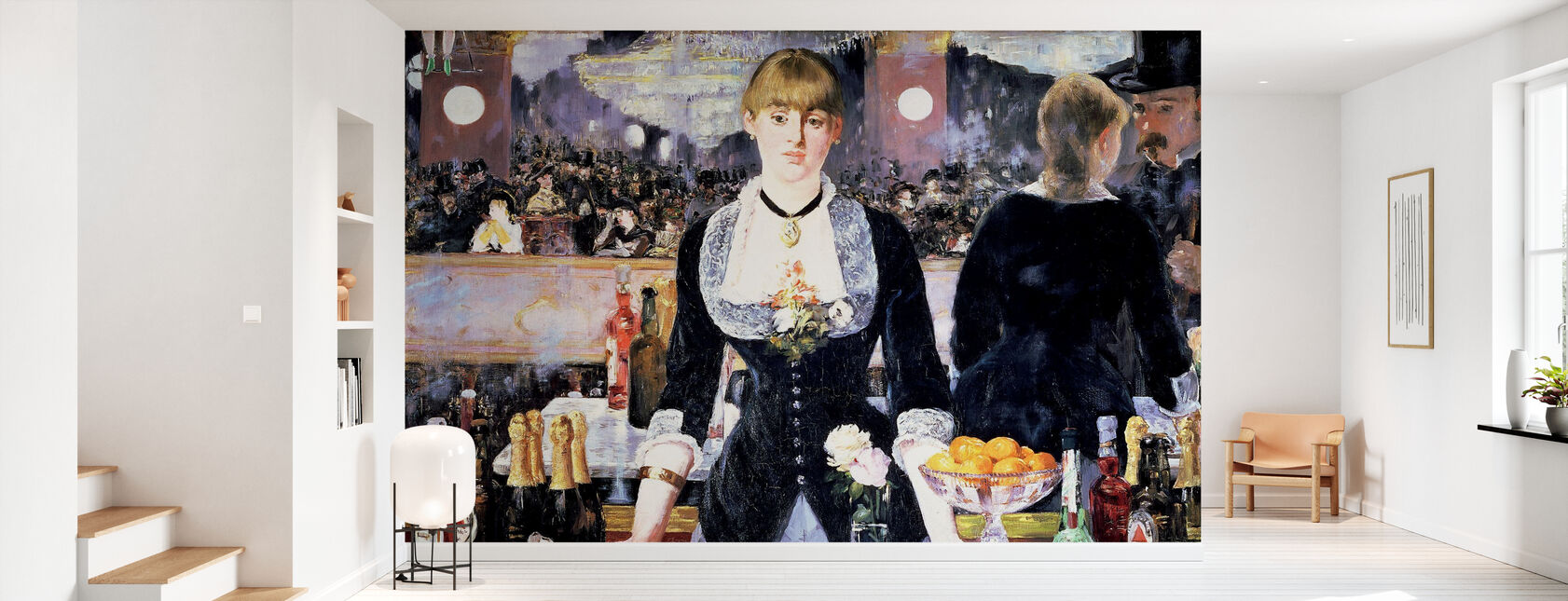 Bar på Folies-Bergere, Edouard Manet - Tapet - Gang