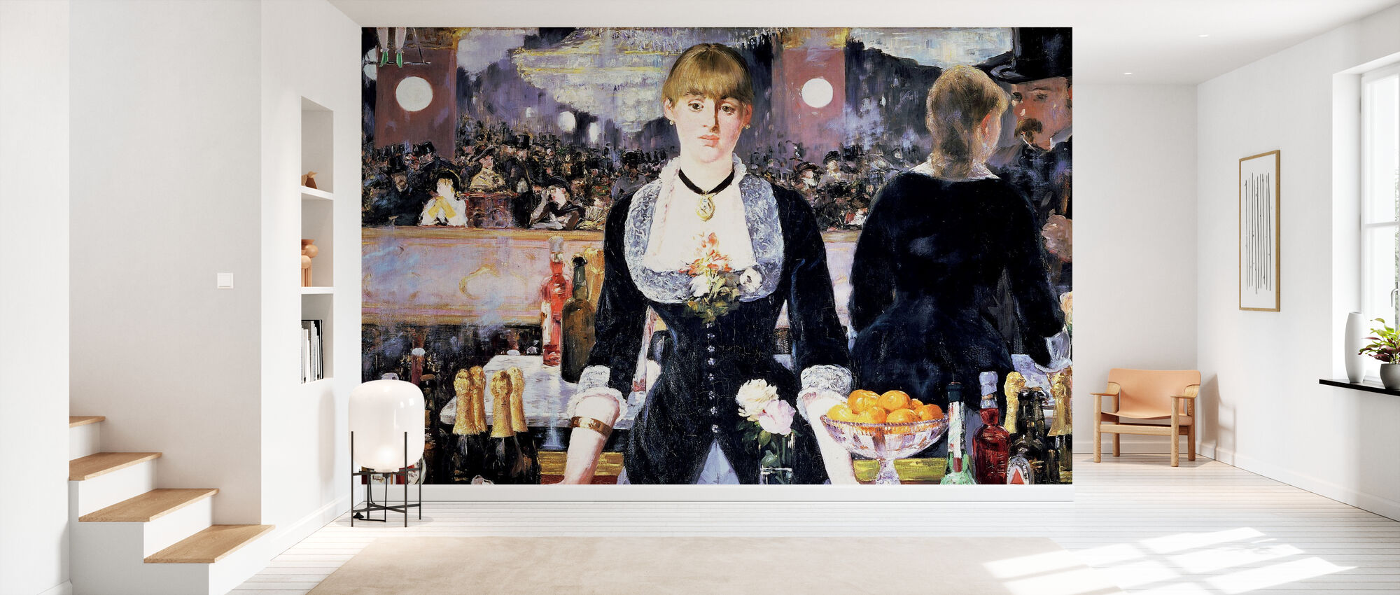 Bar at Folies-Bergere, Edouard Manet - Wallpaper - Hallway