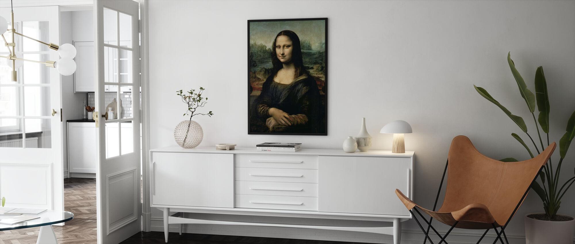 Mona Lisa, Leonardo da Vinci - Ingelijste print - Woonkamer