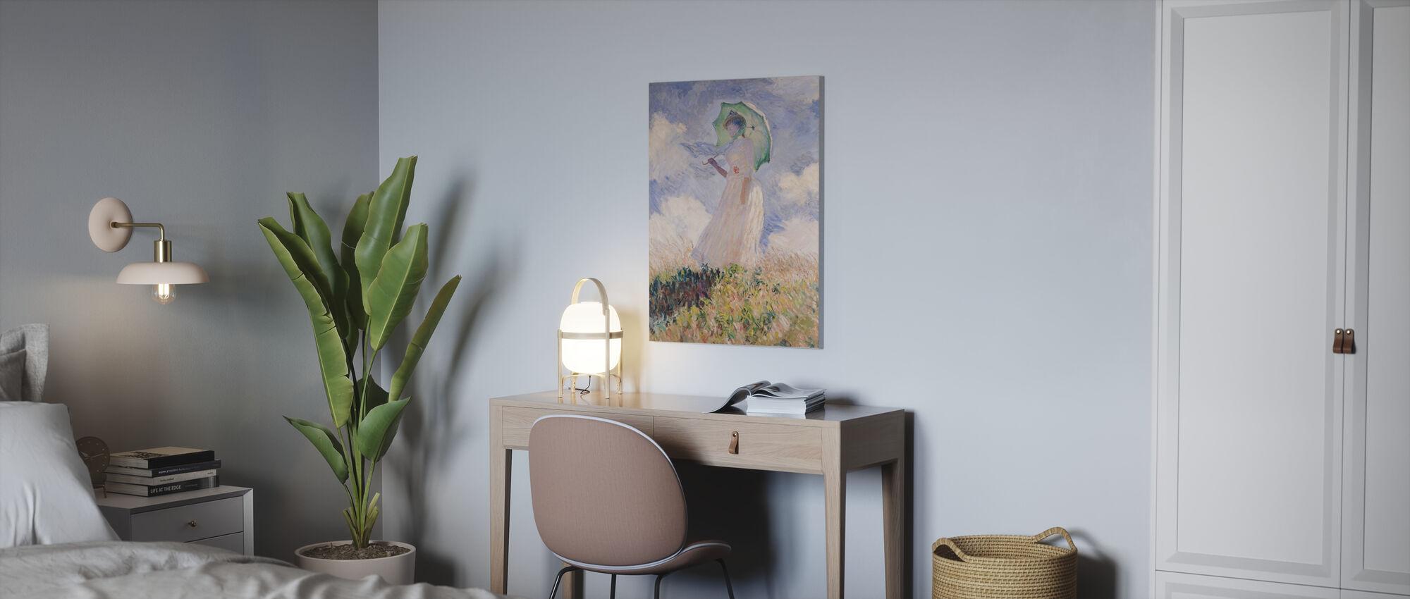 Woman with Parasol, Claude Monet - Canvas print - Office