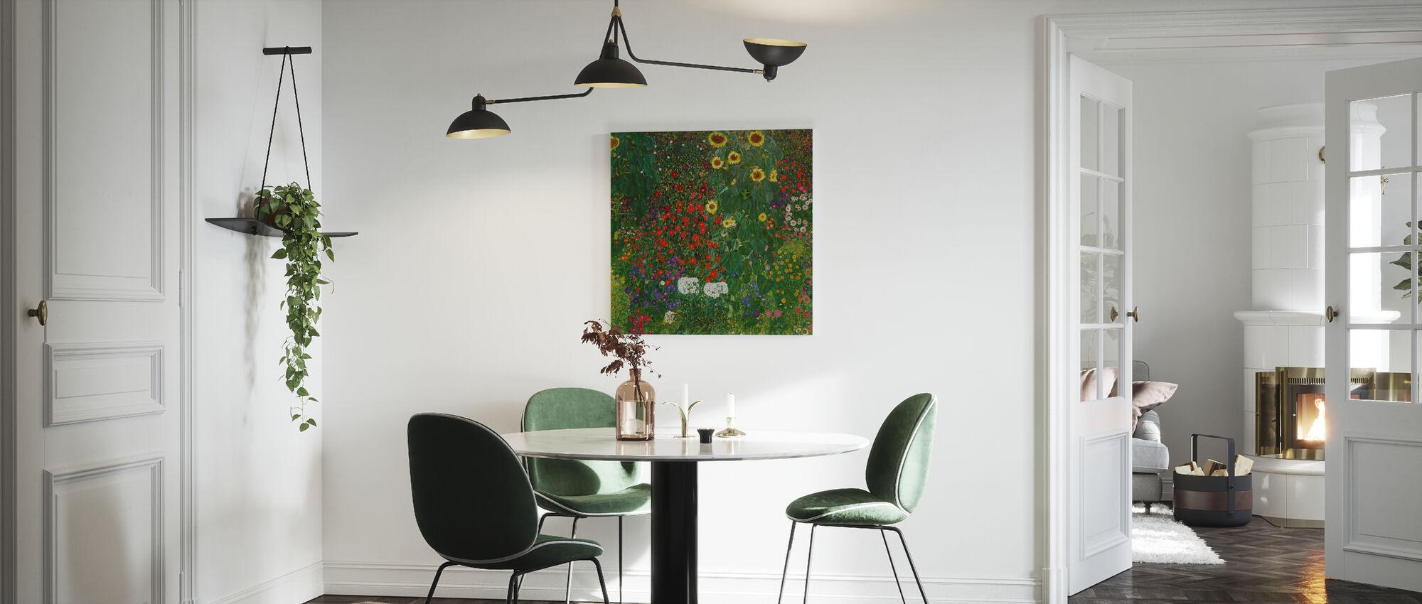 Garden with Sunflowers. Gustav Klimt - Canvas print - Kitchen