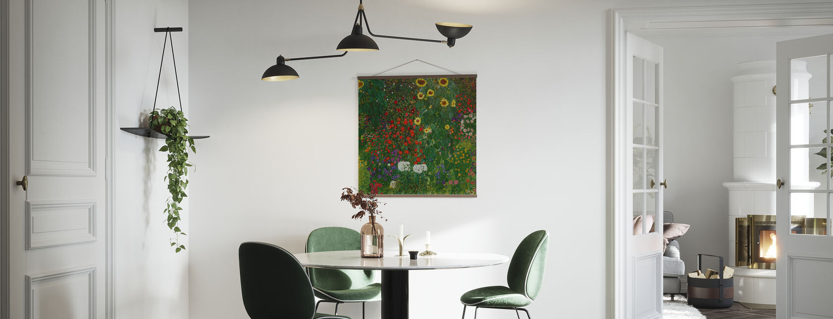 Have med solsikker. Gustav Klimt - Plakat - Køkken