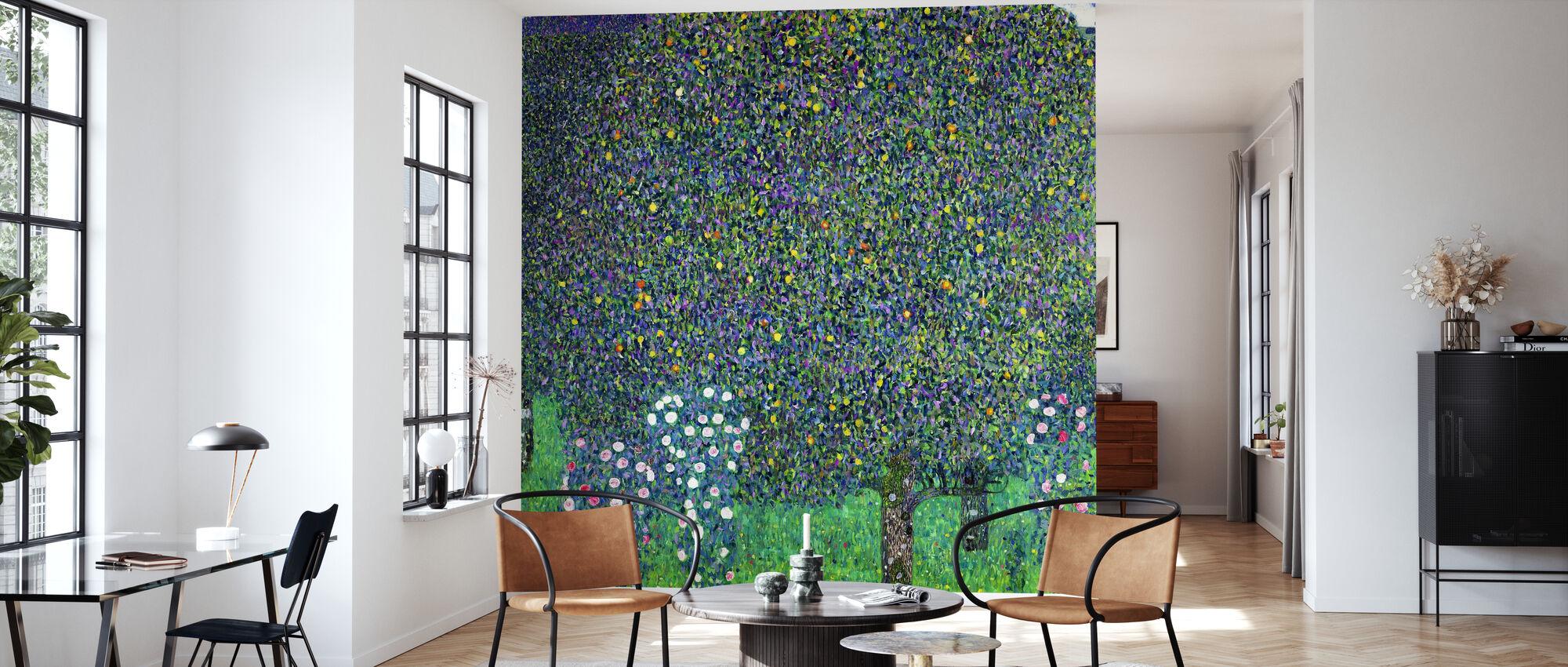 Bridge at Maincy, Gustav Klimt - Wallpaper - Living Room