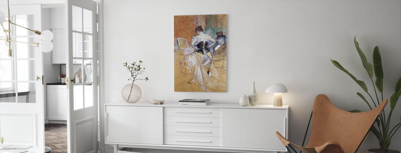 Women at her Toilet, Henri Toulouse Lautrec - Canvas print - Living Room